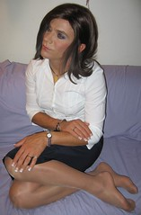 IMG_1262 (kimberly virtue) Tags: blouse pantyhose acrylicnails blackskirt