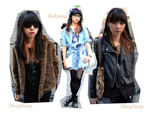 Twotone street fashion collage