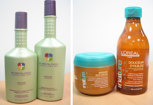 Pureology and L'Oreal Profesionnel Hair Care Products