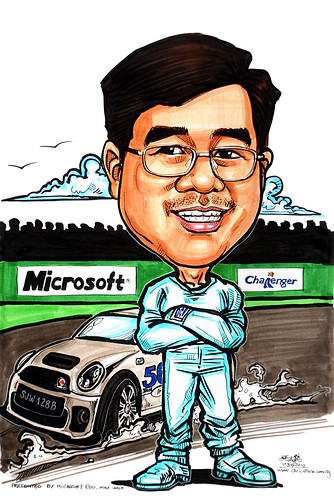 Caricature for Microsoft Challenger racer