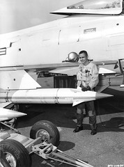 """North American FJ-4 """"Fury"""" with AGM-12 """"Bullpup"""" air to surface missiles. (aeroman3) Tags: north american fury fj4"""