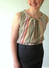 Spring Top (kristenaderrick) Tags: shirt tank pastel japanesecraftbook plaid modest refashion stylishdressbook springtop fromathrifteddress
