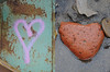 ♥ (Sally E J Hunter) Tags: toronto rock graffiti diptych heart ♥ portlands moo1 topwpl