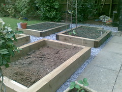 raised bed for vegetables using sleepers