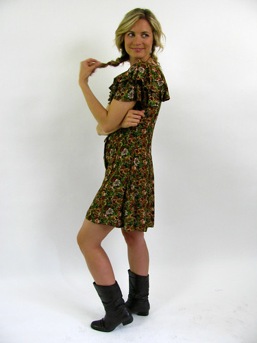 VINTAGE 90'S RUFFLE FLORAL DRESS