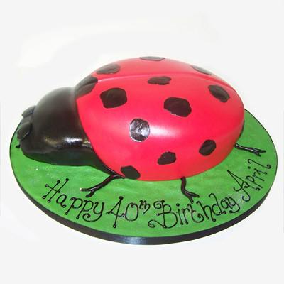 Incredible Lady Bug Birthday Cake A Photo On Flickriver Funny Birthday Cards Online Elaedamsfinfo