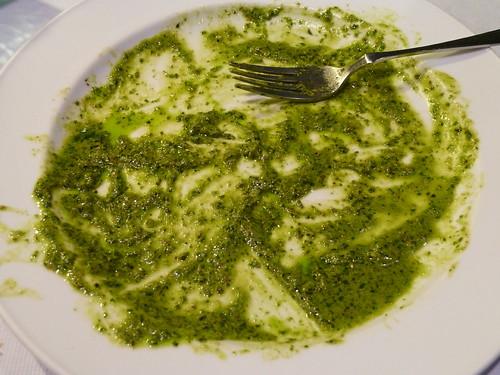 青醬海鮮義大利麵──完食