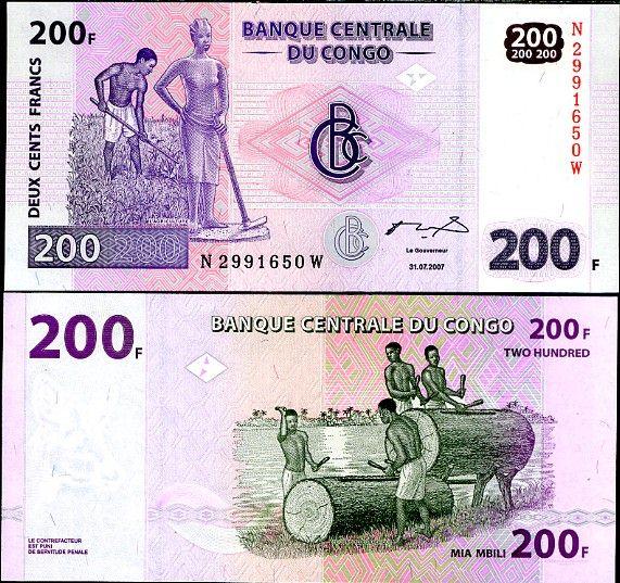 200 Frankov Kongo Dem.Rep. 2007