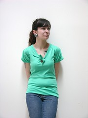 Teal Keyhole Top