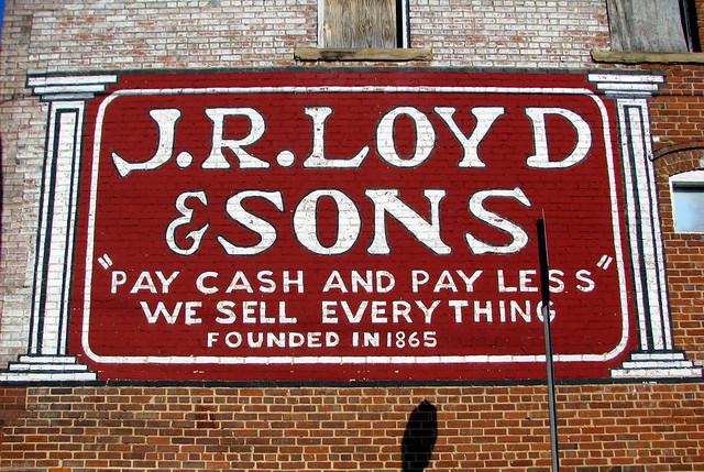 J.R. Loyd & Sons Mural ad