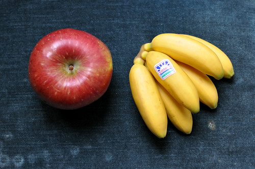 Æble og bananer
