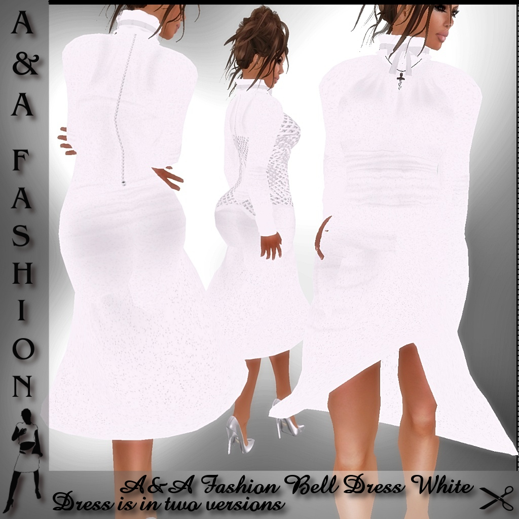 A&A Fashion Bell Dress White