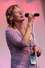 Mekons (Sally Timms) (Calgary Folk Festival) Tags: music canada calgary photo alberta 2009 calgaryfolkmusicfestival cfmf