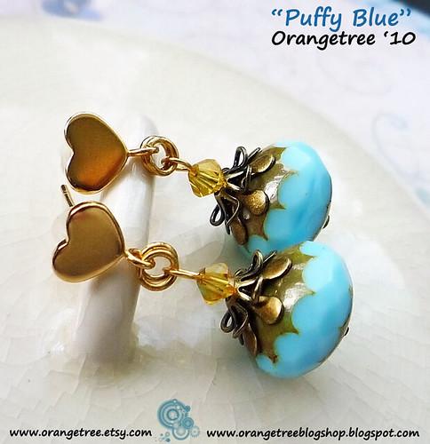 Puffy Blue earrings