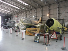 Restorations in progress, Hangar 2, Imperial War Museum, Duxford ( Claire ) Tags: hangar duxford restoration spitfire cambridgeshire imperialwarmuseum hangar2 thefightercollection