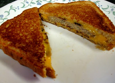 Grilled Cheese Burger:Debbi Does Dinner...Healthy and Low Calorie