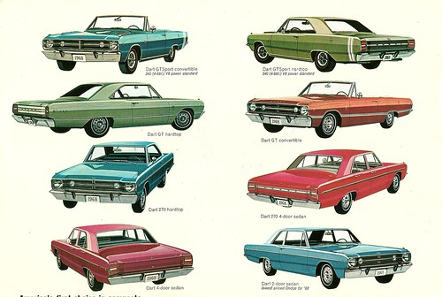 1968 Dodge Dart varieties