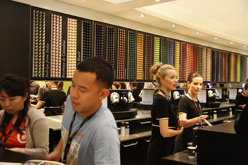 Nespresso girls working hard