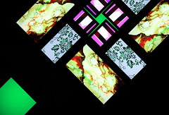 Brian Eno 77 Million Paintings (Dominic's pics) Tags: art window glass festival point back brighton gallery pattern colours panel flat display crystal brian paintings perspective may kaleidoscope screen symmetry illuminated stained seven single eno installation seventy generative million lit lcd vanishing liquid 77 fabrica 2010 rotational onepoint kaleidoscopesque