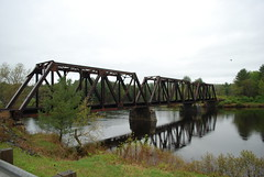 Three Section Truss Bridge (photoman82) Tags: railroad bridge abandoned water rural river iron vermont alone quiet empty tracks newengland newhampshire nh lonely isolated vt connecticutriver mec unused truss mainecentral trussbridge mountaindivision