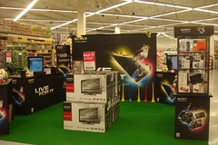 Sony branded retail display units