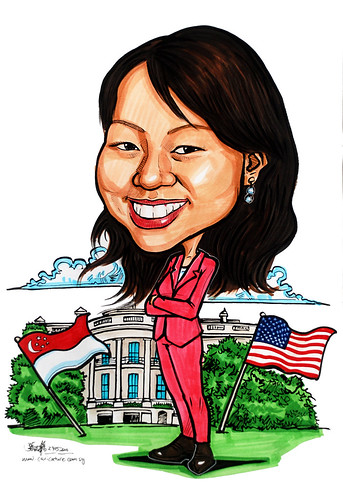 Caricature for Ministry of FInance - @ White House