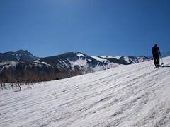 表大雪の山々を眺めながら