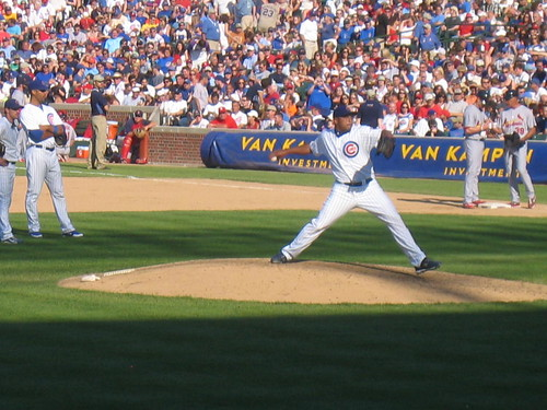Carlos Zambrano warming up