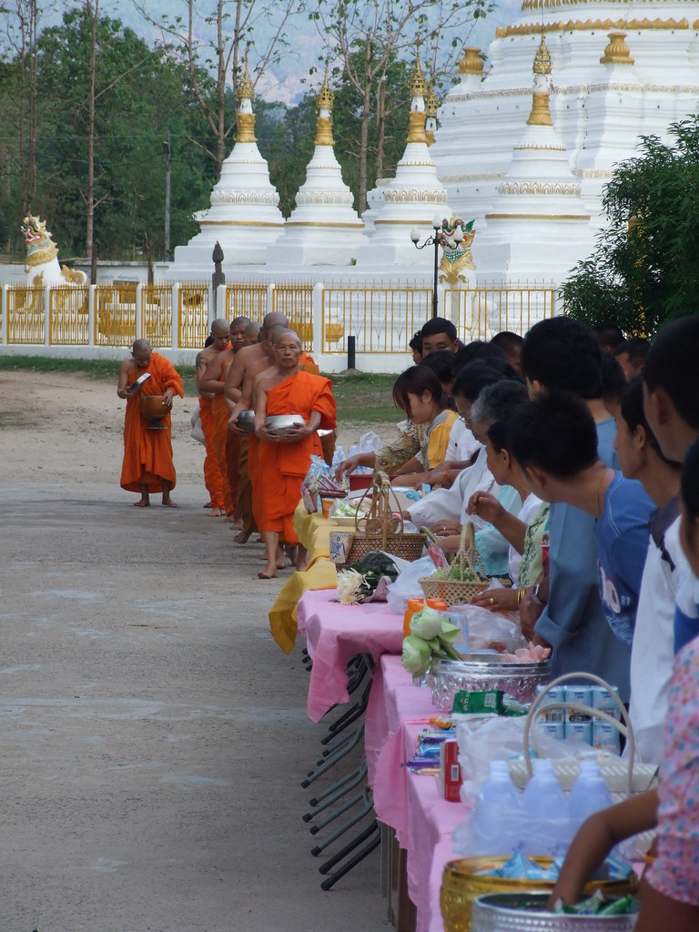 Making Merit on Buddha's birthday