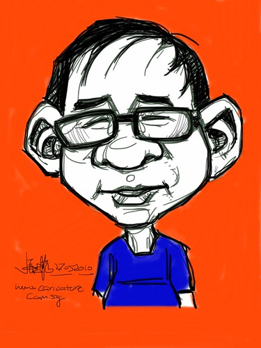digital live caricature drawn with iPad - Eddie Quek