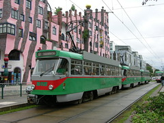 2010-06-01 Magdeburg Tramway Nr.1200 (beranekp) Tags: architecture germany deutschland trolley tram magdeburg sachsen anhalt architektur tramway strassenbahn hundertwasser tatra tramvaj tranvia elektrika elektrika alina