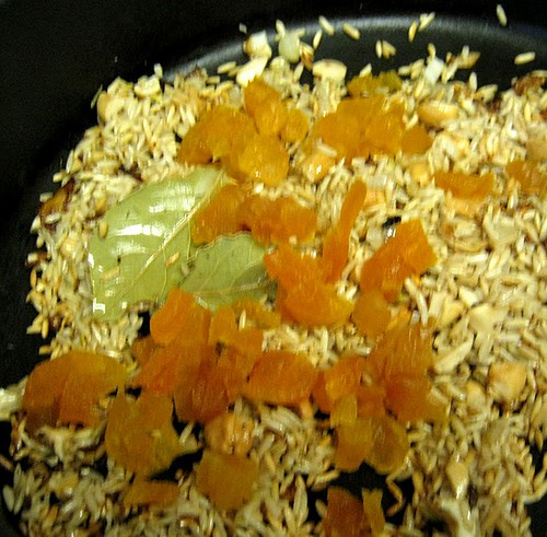 My Sweet and Savory: Herbed Cashew Rice with Dried Apricots