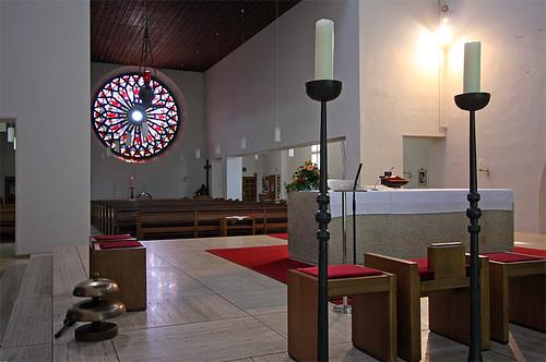 Das Innere der Böhm-Kirche Christkönig in Hamminkeln-Ringenberg