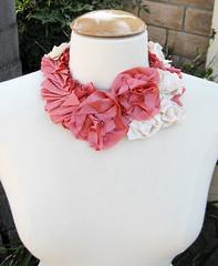 Silk Flower Necklace DIY -FRONT