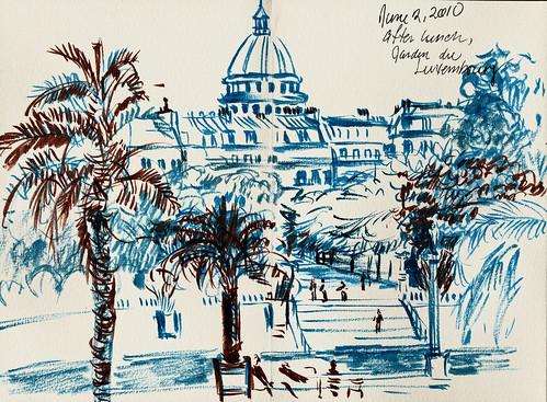 Paris: Pantheon in blue and brown