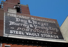 Fireproof Ghost Sign, New York, NY (Robby Virus) Tags: newyorkcity newyork sign wall day manhattan steel ghost young storage warehouse vault murray bigapple meyer fireproof portovault