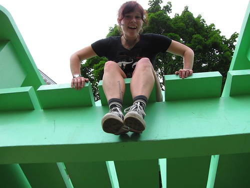 Becky in a Giant Chair