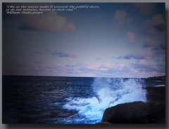 Waves quote (netman007 (Andre` Cutajar)) Tags: blue sea white quote shakespeare wave malta william andre cutajar netman007