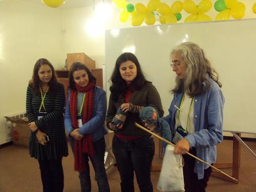 O Tricoteiras.com também estava lá para anunciar a nova promoção em parceria com a Aslan Trends. Foto: Solange Cristiny