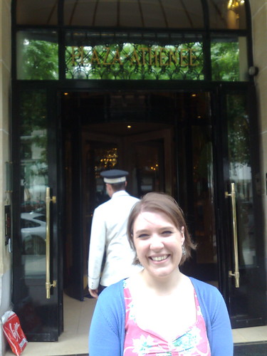 me at The Plaza Athenee