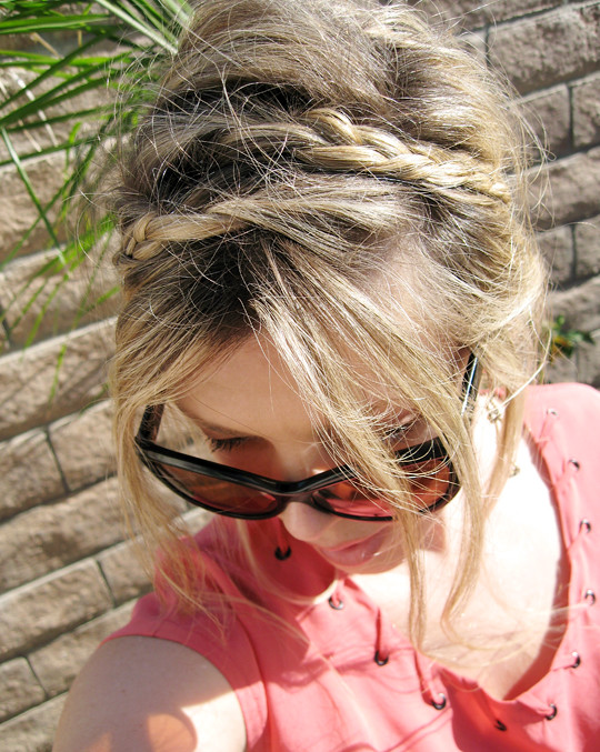 braided hair for women:  messy rope braids