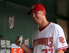 Strasburg smiling after 1st Photo by Cheryl Nichols