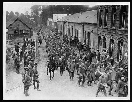 world war 1 soldiers marching. during World War I.