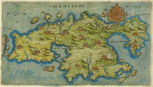 Metileme - map of Mytilene, Greece