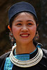 Lovely Black Hmong girl in Cat Cat. (Bertrand Linet) Tags: portrait girl smile necklace feminine tribal vietnam tribe ethnic sapa hmong blackhmong 5photosaday sapainacloud bertrandlinet
