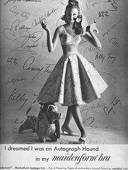 I dreamed I was an autograph hound (sugarpie honeybunch) Tags: fashion vintage magazine advertising 60s bra ad lingerie 1960s seventeen maidenform conwaytwitty chubbychecker