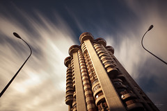 madrid's bladerunner - torres blancas (sadaiche (Peter Franc)) Tags: madrid longexposure architecture spain bladerunner lightpoles blancas torres afternoonlight torresblancas franciscojaviersenzdeoiza