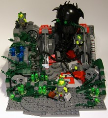 Carnage (Bart De Dobbelaer) Tags: lego atlantis cthulhu diorama clumsypete