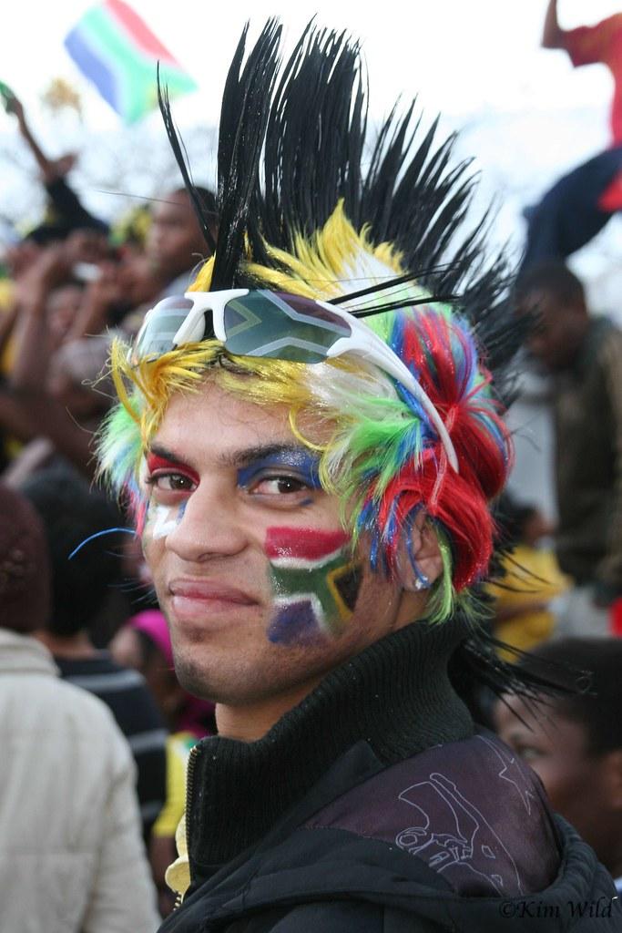 Mundial Sudáfrica hinchas freak plumas
