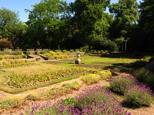 The Sunken Garden, Cannizaro Park, in Summer